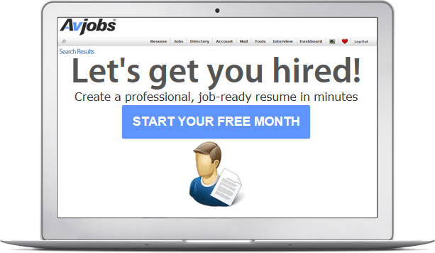 Try Avjobs applicant services. Get your first month free.